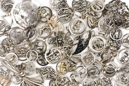 Silber Schwarz Angelaufen
