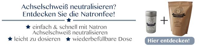 Natron als Schutz vor Achselschweiß